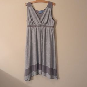 Vera Wang Grey Knit Dress Like New XL